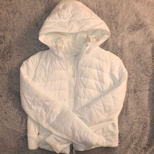 Lululemon white jacket  Size 4